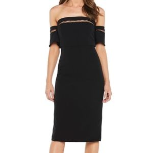 Bardot sacha diamond lattice trim sheath dress